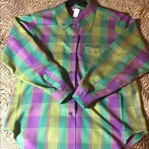 Vintage Plaid Check Shirt